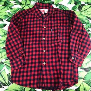 5 for $25 Littke Levi's Red Plaid Button Down